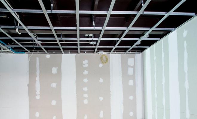 gyproc plafond in metal studs