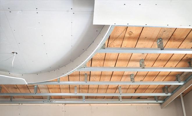 Verlaagd gyproc plafond