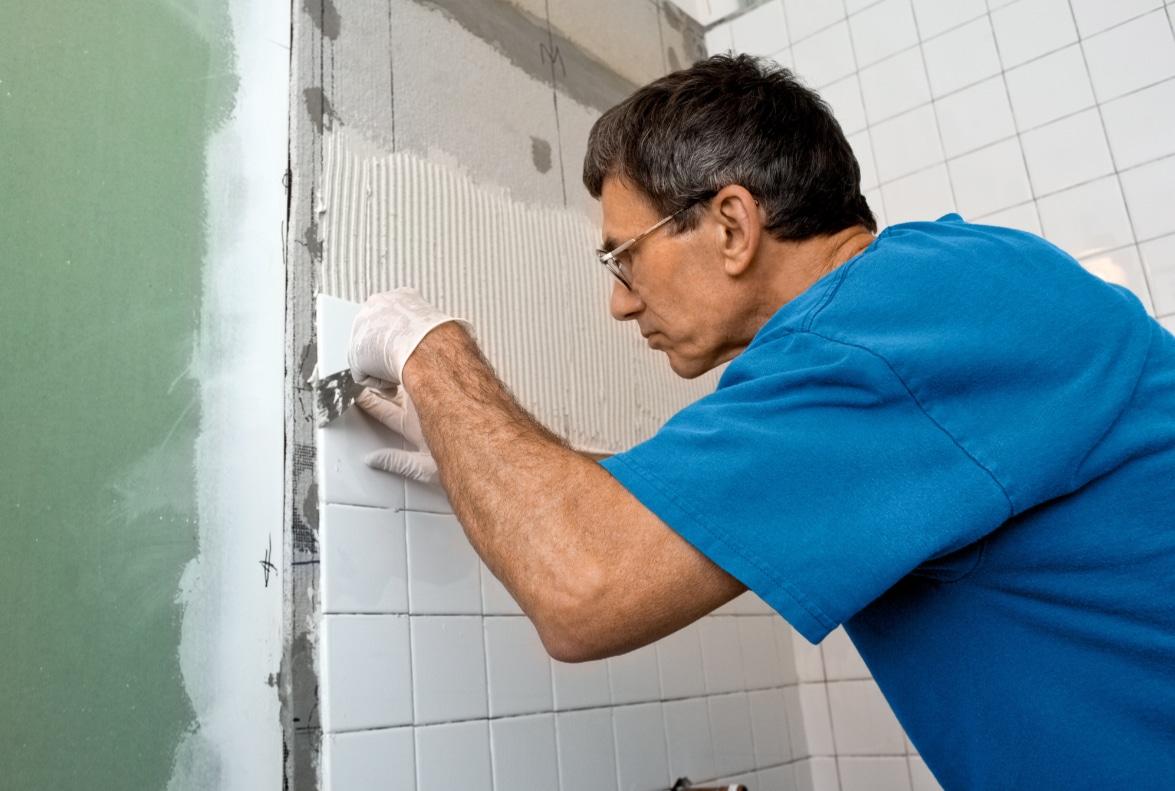 gyproc wand in badkamer betegelen